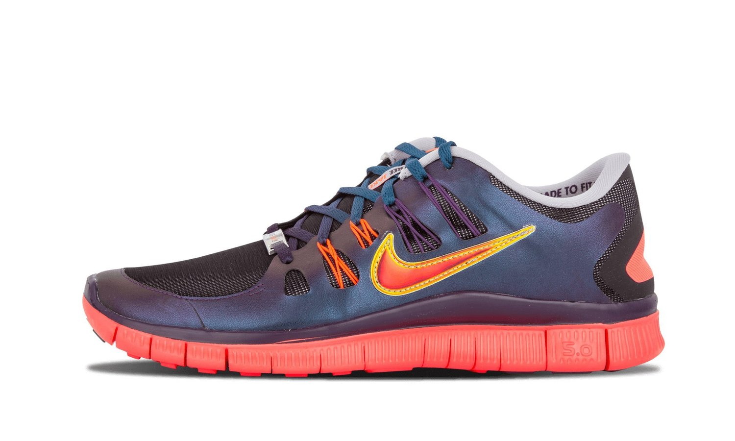 Nike Free Run 5.0 Doernbecher 639873 065, Wolf Grey/Total Crimson/Ground  Purple