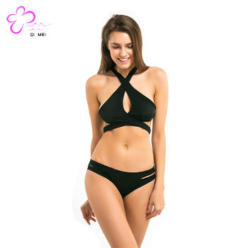 Cross Breast Black Sexy Lingerie Women 2018 Cheap Lingerie Tight Linegerie