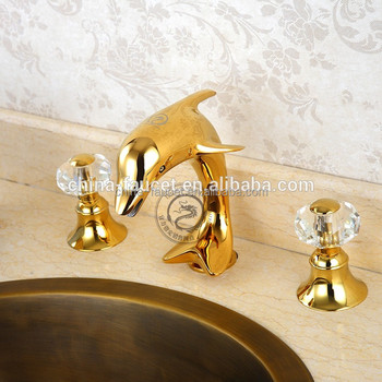 Dolphin Basin Faucet In Gold Or Silver Color Used In Bathroom Buy Bathroom Faucet Dolphin