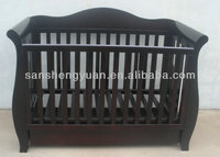 Solid pine wood baby crib/baby nusery furniture