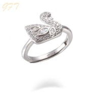 Factory supply custom cz s925 silver jewelry ring