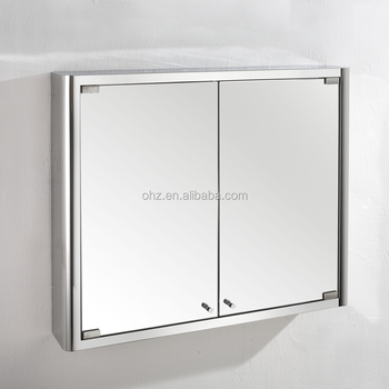 7004 Bathroom stainless steel medicine cabinet with two mirror doors