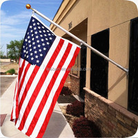 China suppliers aluminum wall mount assembly telescopic flag pole