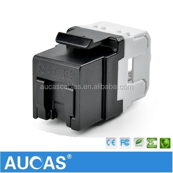 Anti-Dust Shutter UTP Cat5e Keystone Jack for Network Cable Fit to Standard 86 Faceplate Hot Sell
