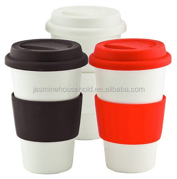 Porcelain Coffee Travel Mug With Silicone Lid Best Mugs