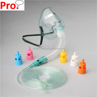 Colorful adjustable oxygen venturi mask Single diluter for one concentration