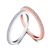 ShangJie Einfache Design 925 <span class=keywords><strong>Sterling</strong></span> <span class=keywords><strong>Silber</strong></span> Frauen Voll Pflastern Zirkonia Eternity Band Thin-Finger-Ring