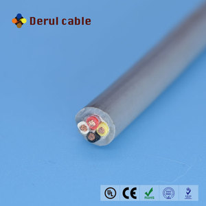 4 cores PUR insulation oil resistant cable cold resistance cable water resistant power cable