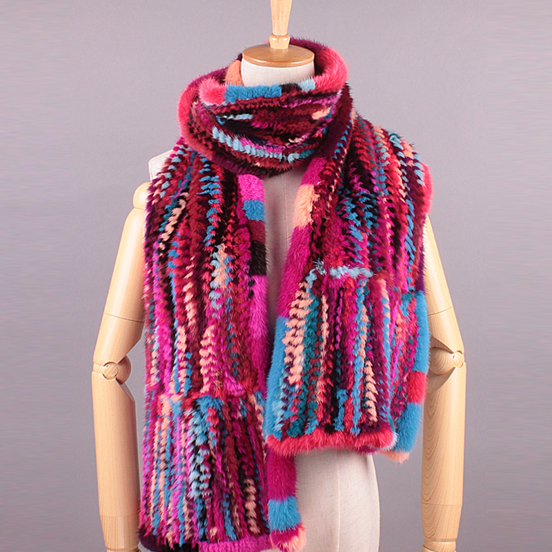Thicken Colorful Scarf luxury Brand Bufandas Mujer 2016 Women Mink Fur Lady Women font b Winter