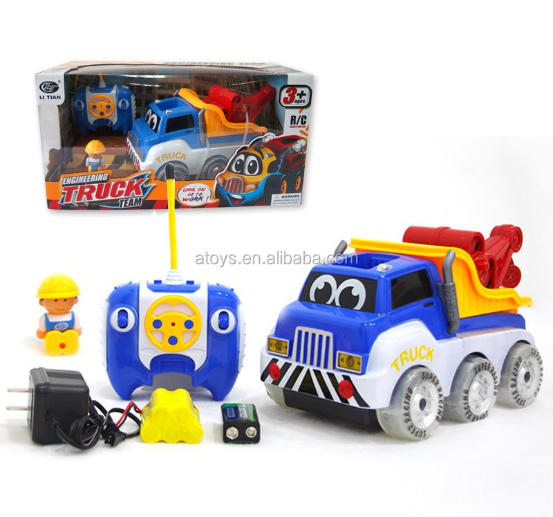 4 Channel Rc Cartoon Car 4wd Tractor 4wd Truck 4wd Toy Car Small 4wd