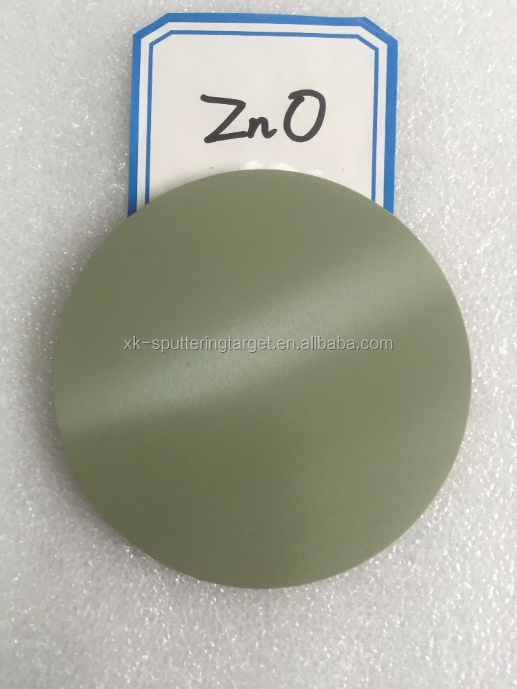 Professional manufacture high purity ZnO compound target 99.99% zinc oxide sputtering target for coating