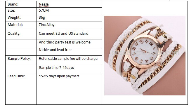 Fashion Women Brand Quartz Wrist Watch Wholesale NSWH-0001