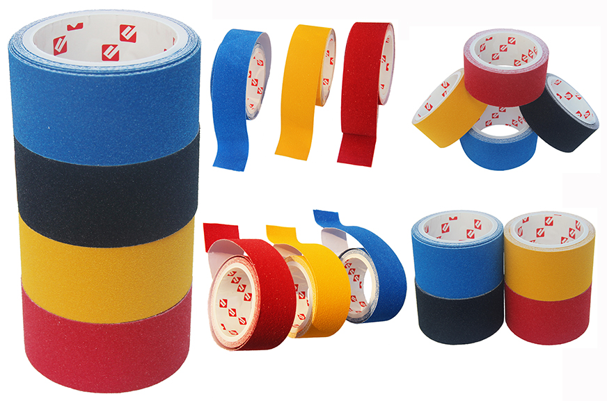 Free Sample Whosale Price Waterproof Skid Surfboard Self Adhesive Anti-slip Flagging PVC Tape for Safety Walk Floor