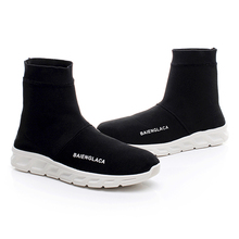 2017 Wholesale Fashion Cool Flat Casual Canvas Couple Black High Neck Ankle Shoes For Men