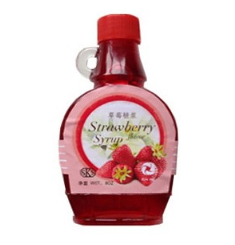 BRC  KOSHER fruit juice strawberry flavor syrup