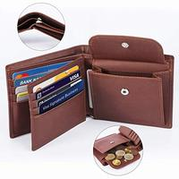 men's wallet for RFID protection small tiffiness compartment male hand wallet coin purse wallet with coin sorter holder case