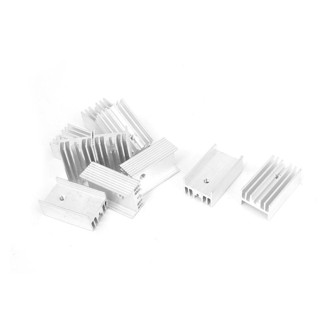 uxcell Aluminum TO220 Power IC Heat Sink Radiator Heatsink 25x15x10mm 10pcs