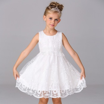 Modest Flower Girl Dresses Baby Clothes Embroidered For Wedding L620