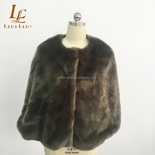 Nieuwe Faux Fur Avond Party Dress Wraps Fur Wedding Bruidsmeisjes Shawl Bridal Jacket Schouder Capes Slanke Dame Nep Bont Mantel