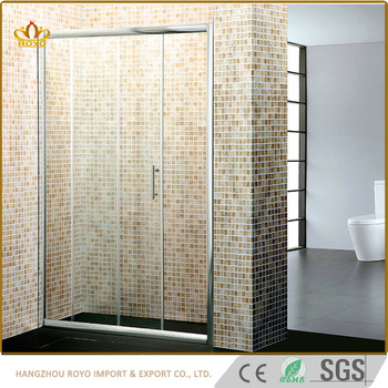 Very Simple Bathroom Sliding Shower Door 8mm Gl For India