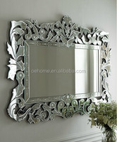Elegent accent WOOD carved wall mirror for hotel decors