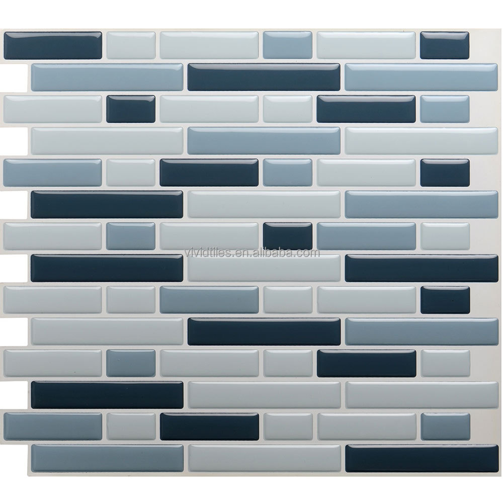 High quality do it yourself 3d gel design stick and go mosaic kitchen wall tiles