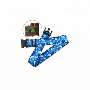 Custom Dye Sublimation Logo luggage strap/luggage belt