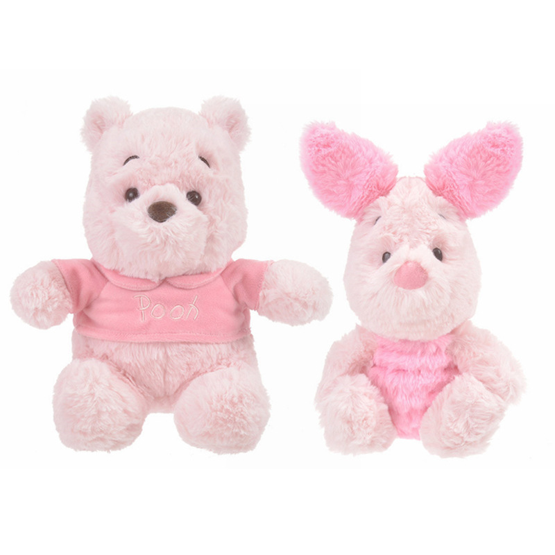 12pcs / lot Cute Plush Soft Cartoon Stuff Bear & pig Toy Doll For Baby birthday Christmas Gift