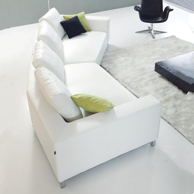Últimos Diseños Sofá Moderno Marco Del Metal Cubierta De Cuero Acero ...