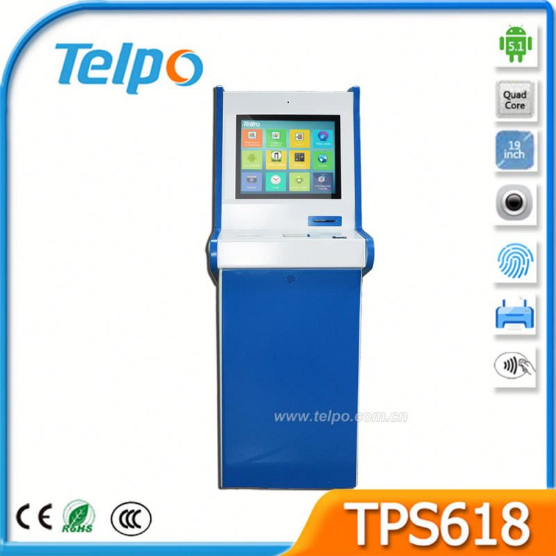 Telpo TPS618 Quad-Core 1.6GHz Outdoor Food Kiosk With Printer Drivers