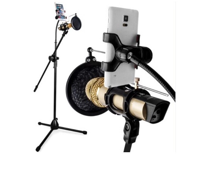 Live Streaming Stand Smartphone and Microphone Holder Bracket web star Live Stand