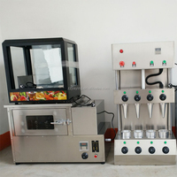 Automatic stainless steel Pizza cone making machine/rotary pizza cone oven /Pizza cone warmer display for sale
