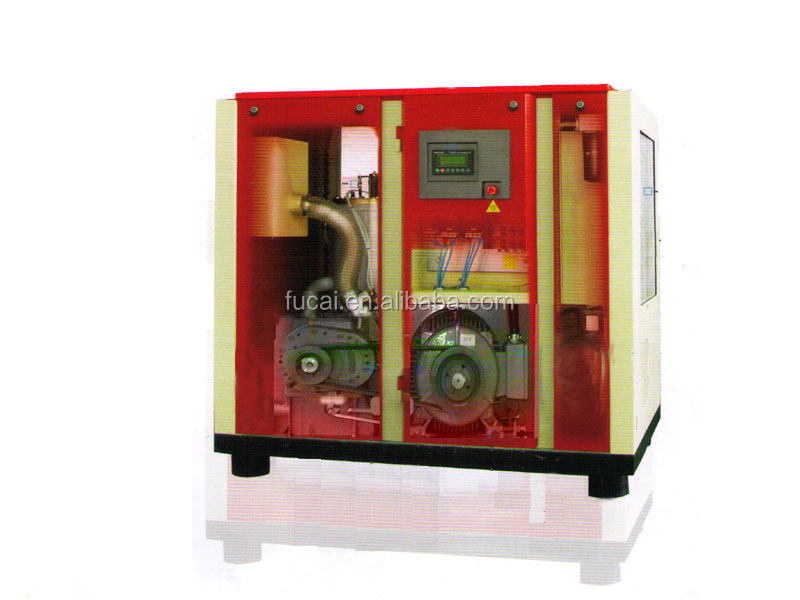 200HP FUCAI Model FC-200 CE certificated oil lubricated screw compressor . 76 dB