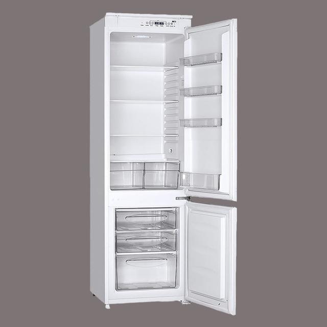 Double Door Fridge Down Freezer Refrigerator With LED Display