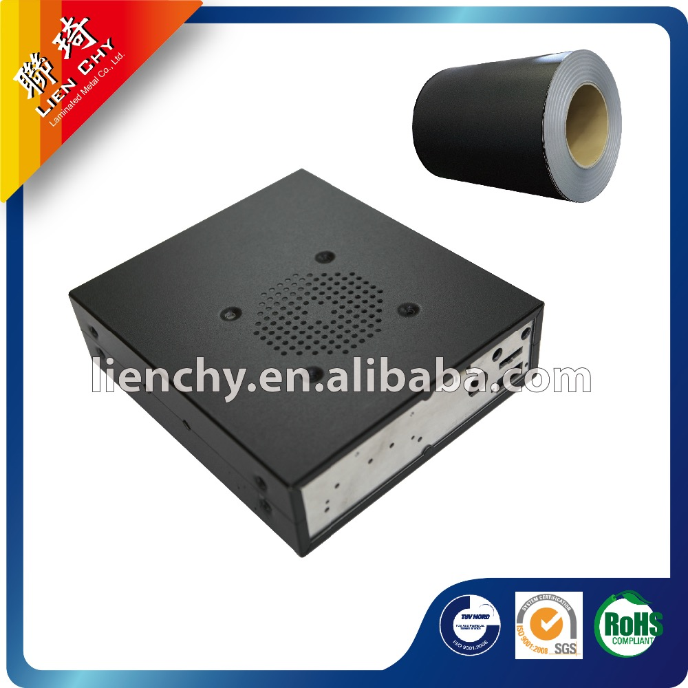 High Quality PVC film Leather Black Laminated Steel coil for 3c product steell case