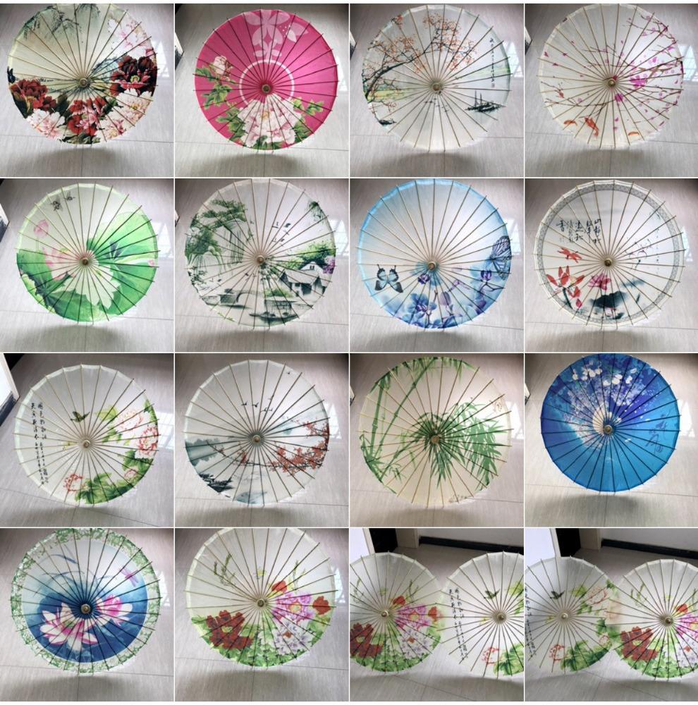 Chinese Paraplu Art Deco Geschilderd Parasol Voor Wedding Party Olie