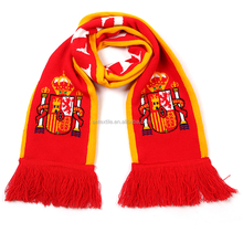 Custom Wholesale Promotion Knitting Soccer Scarf