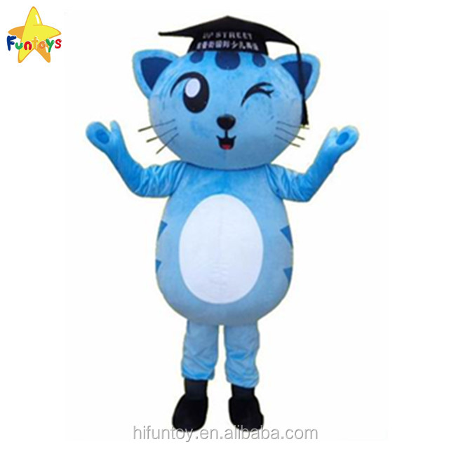 Funtoys CE Customized Doctor Hat Cat Mascot Costume for Adult