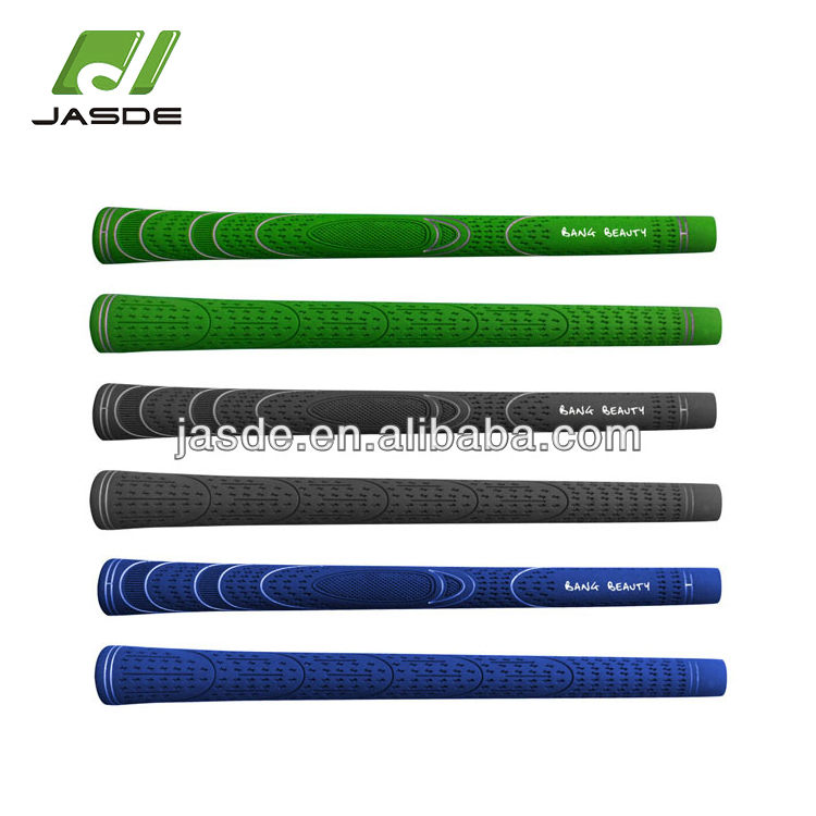 custom made standard size high quality green colorful training practice light weight pure pride golf club rubber hand grips