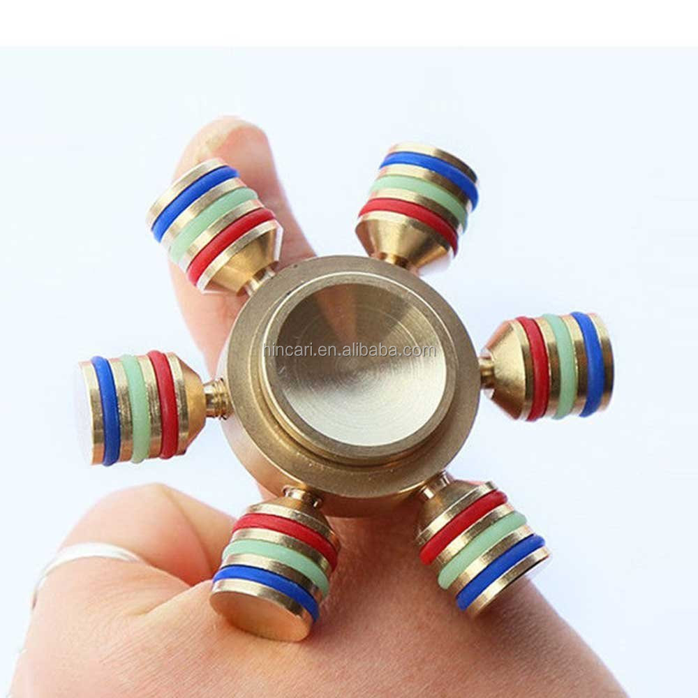 New style electronic fidget hand spinner with 608 bearing relieve stress toys with LED controlled by APP
