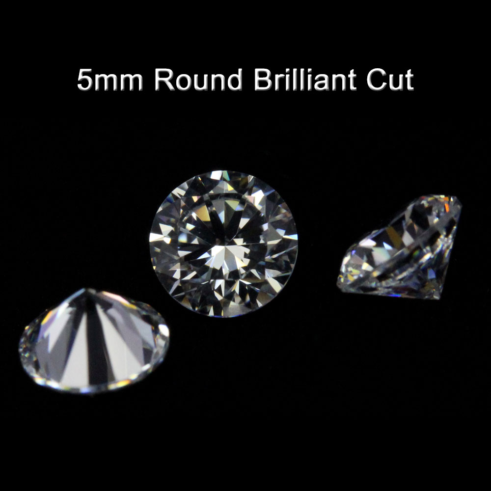 1ct 5mm Shinning Round White Cubic Zirconia/ Synthetic White <strong>Diamond</strong>