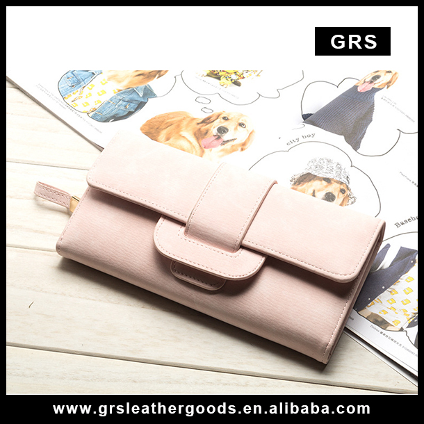 NEW Creative Lady Clutch bag Women cowhide leather clutch wallet handmade RFID purse buckled for women 2017