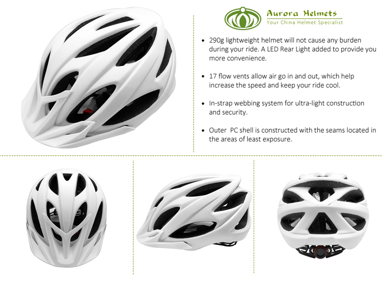 CE certificated factory price adult mountain bike helmet with visor