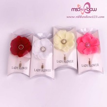 long pin fabric bridal brooches
