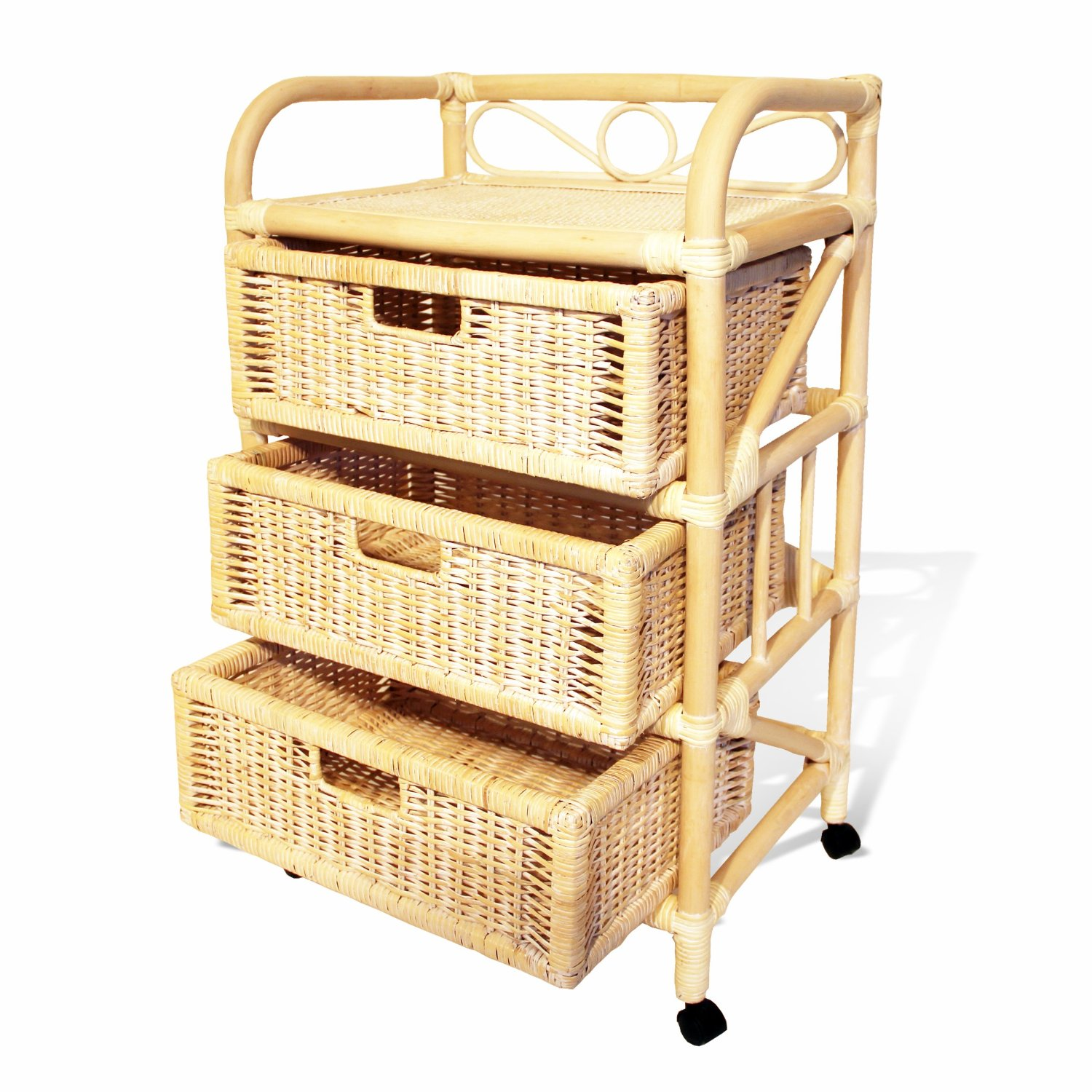 Natural Rattan Wicker Drawer Chest