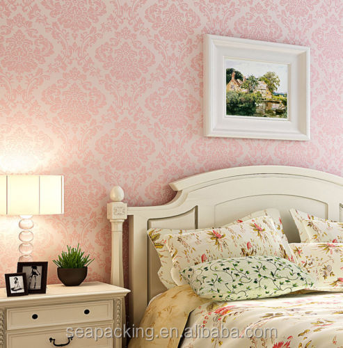 flocking wallpaper roll-Source quality flocking wallpaper roll from ...
