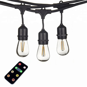 Chinlighting outdoor weatherproof IP65 waterproof 110V dimmable S14 LED string light with 150W dimmer kit