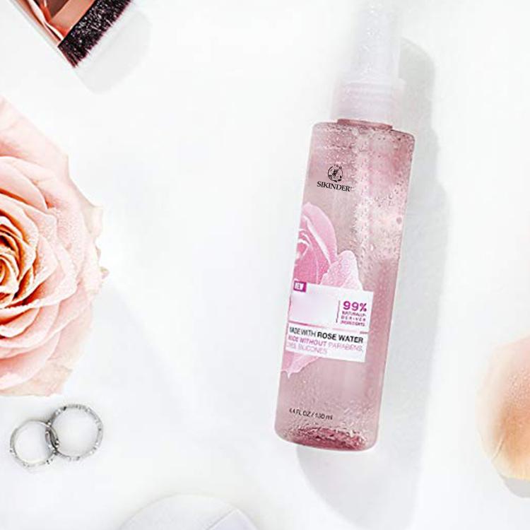 Destilliertem rose wasser toner gesichts spray