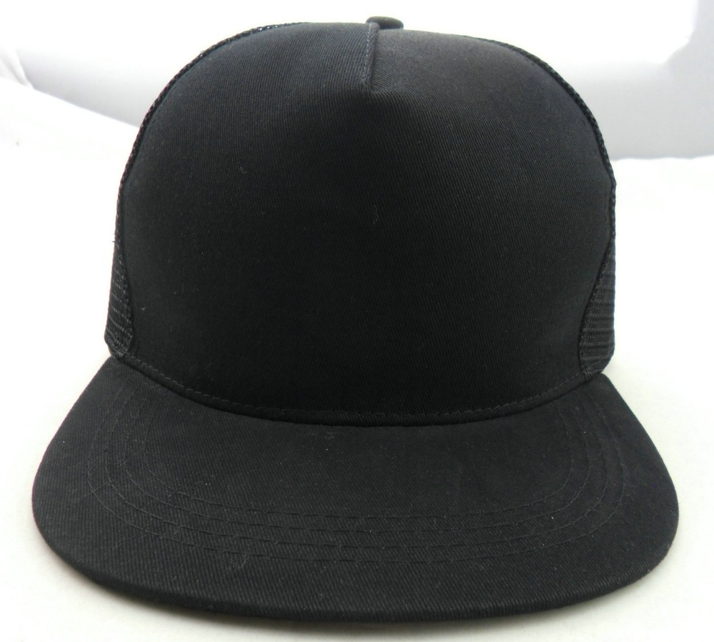 cheap wholesale black blank flat bill trucker <strong>hats</strong> wholesale