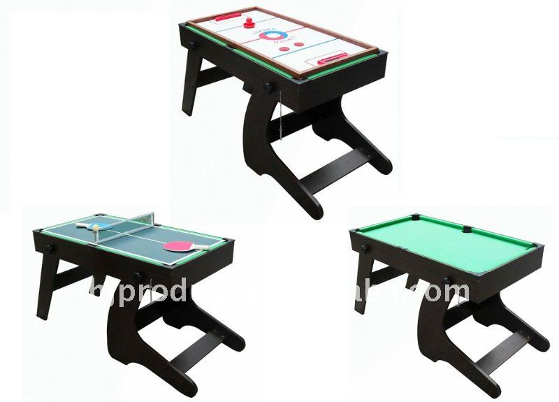 3 en 1 multi table de jeu pliable table de hockey ping for Table de multi